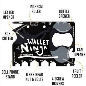 Harga Wallet Ninja 18in1 Multi Purpose Credit Card Sized Pocket Tool