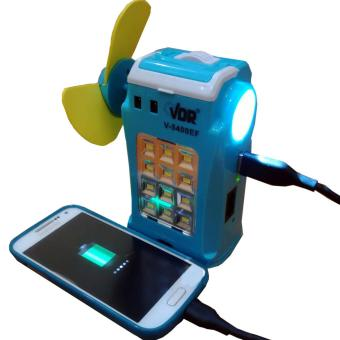 Harga VDR All-in-one Kipas + Senter + Lampu Emergency + Power Bank V-5400EF