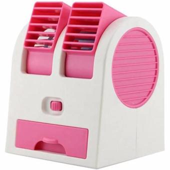 Harga AC Mini Fan Portable USB Super Dingin - Pink