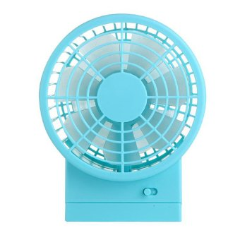 Harga Generic USB Mini Fan Double Fan - Biru