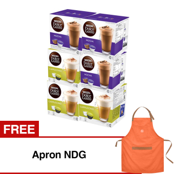 Harga Nescafe Dolce Gusto 6 Box Coffee Capsules Free Apron NDG