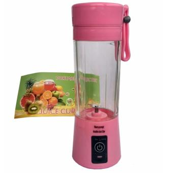 Harga Portable Blender Juice Cup Mini Electric 380ML Rechargeable - Pink