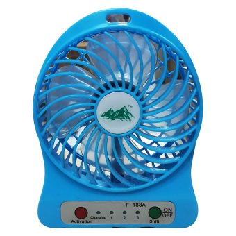 Harga Portable Mini Fan - Kipas Mini USB - Biru