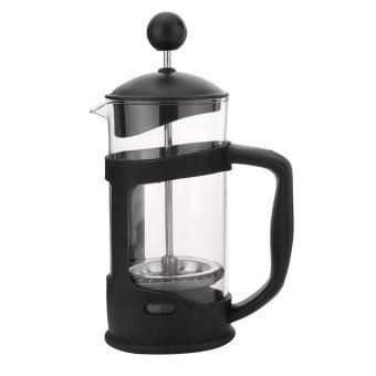 Harga French Press 350ml Heat Resistant Glass Coffee Press Tea Maker Filter Plunger - intl