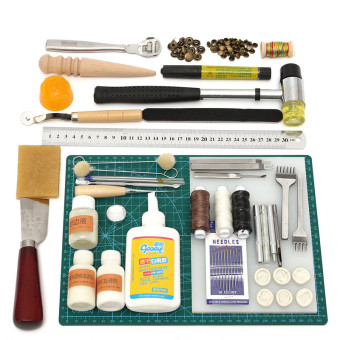 Harga Tools Leather Craft Tool Kit Leather Hand Sewing Tool Set Professional - Intl