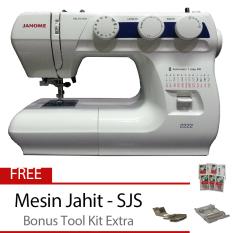 Janome 2222 Mesin Jahit Portable + Bonus Tool Kit