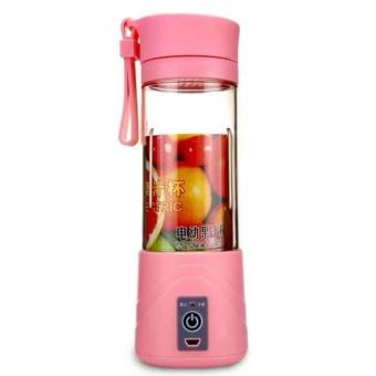 Belanja murah Juice Blender Portable and Rechargeable Battery - Pink Harga Saya