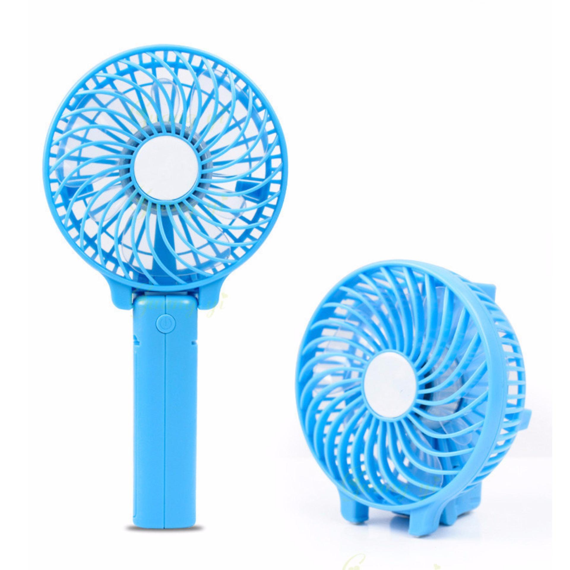 ... Kipas Bee Handy Mini Fan Lipat Portable Rechargeable Quality Brand - Biru ...