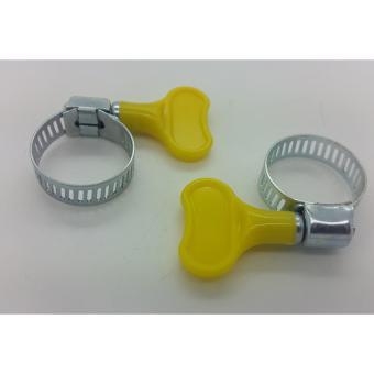 Klem Ring Selang Regulator , Kepala Gas + Kunci 10 pc - Kuning - 2