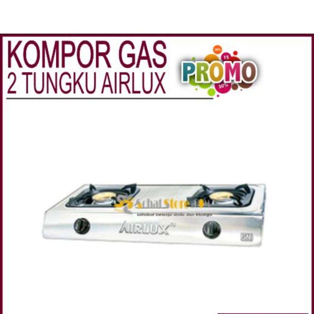 Harga Penawaran Kompor Gas Airlux 2 Tungku Stainless 1 Mls Kgst102 Steel Gc 2202 S