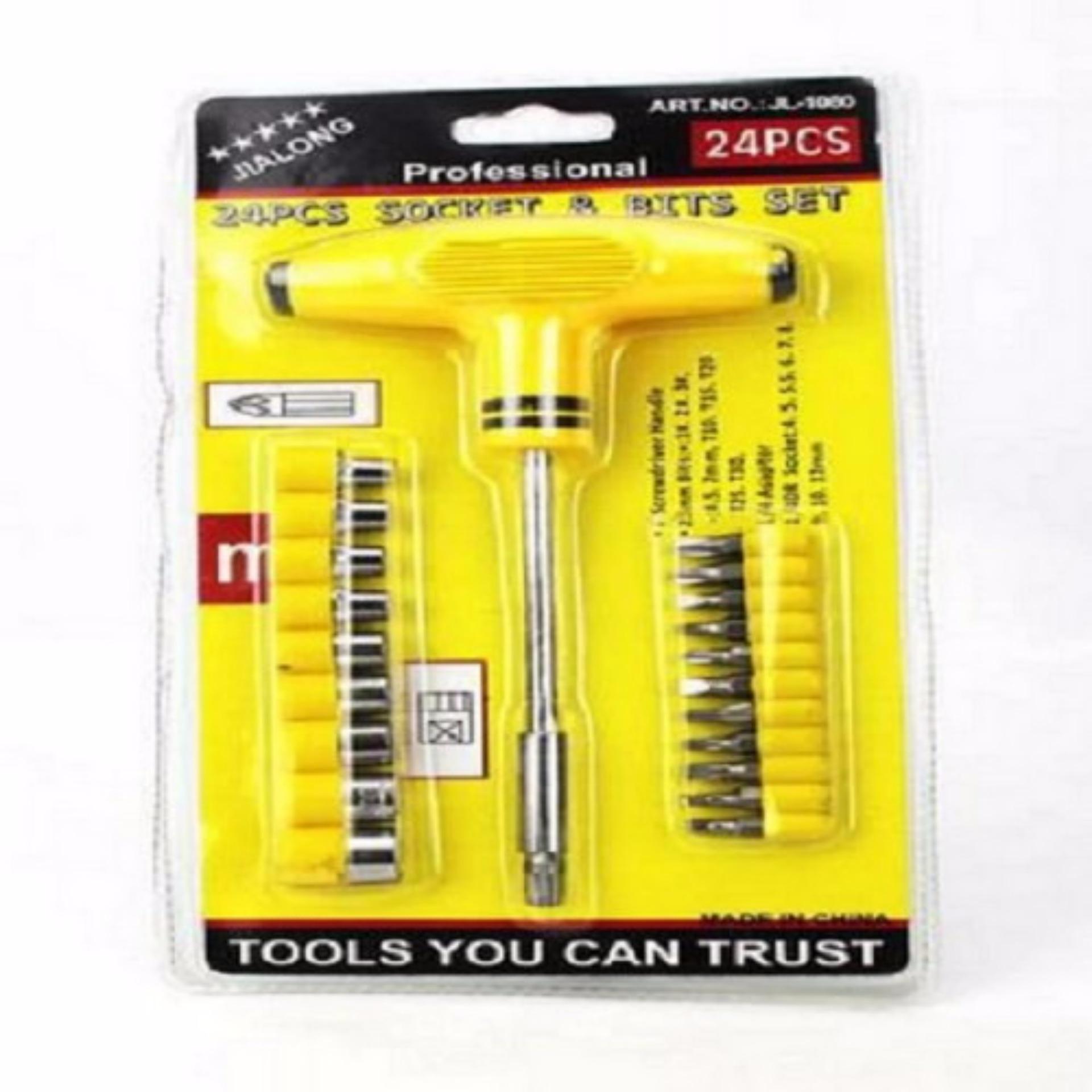 Universal Kunci Set Socket 20 In 1 Multifungsi T Obeng Sok