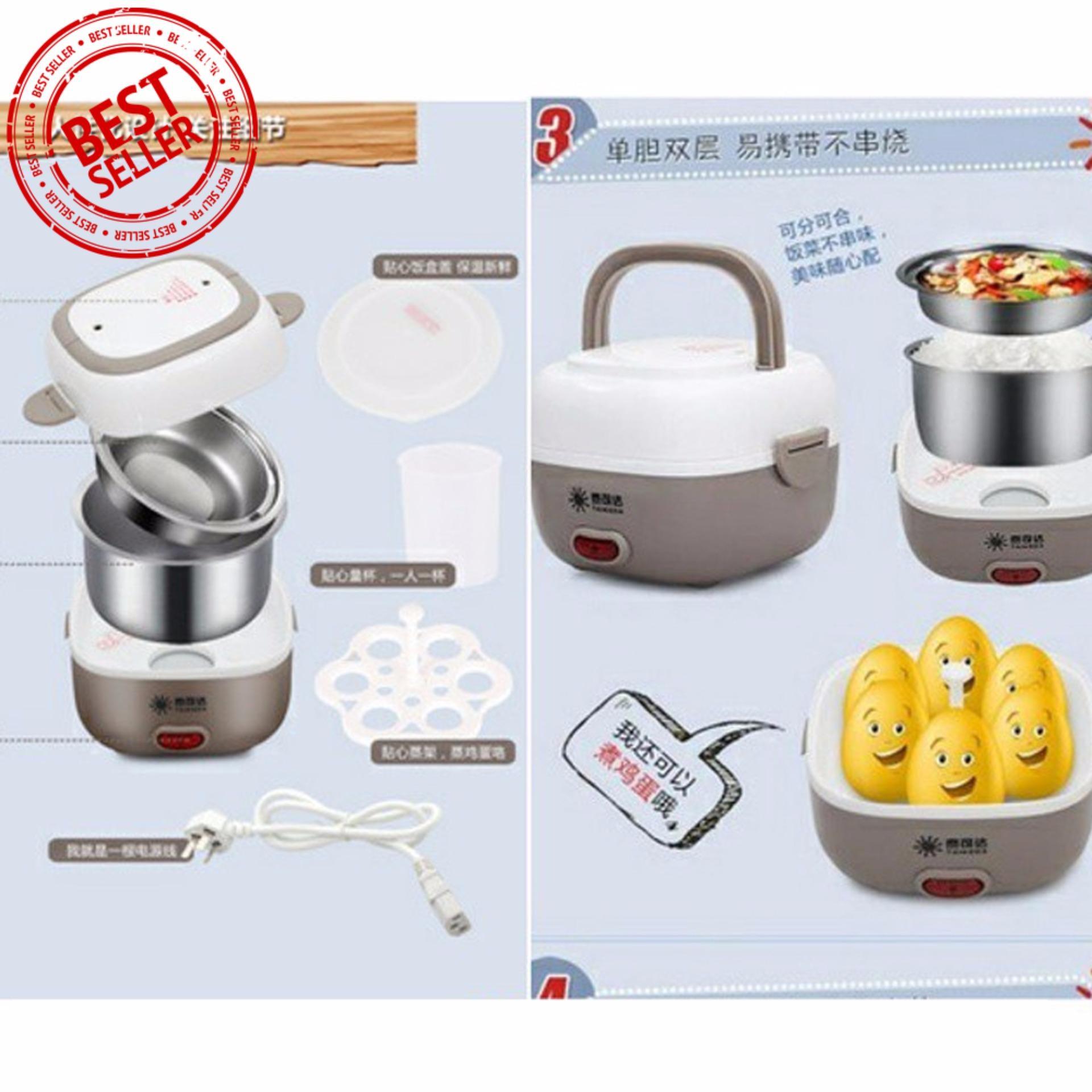 Pelacakan Harga StarHome Rice Cooker Mini 3 Susun kapasitas 2 L Source · Mini Rice Cooker Portable Multifunction Egg Boiler 2 Susun