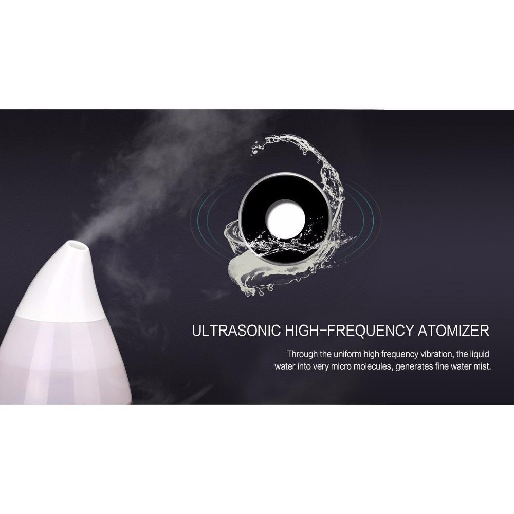 Mini Ultrasonic Air Humidifier Aroma Therapy - White .