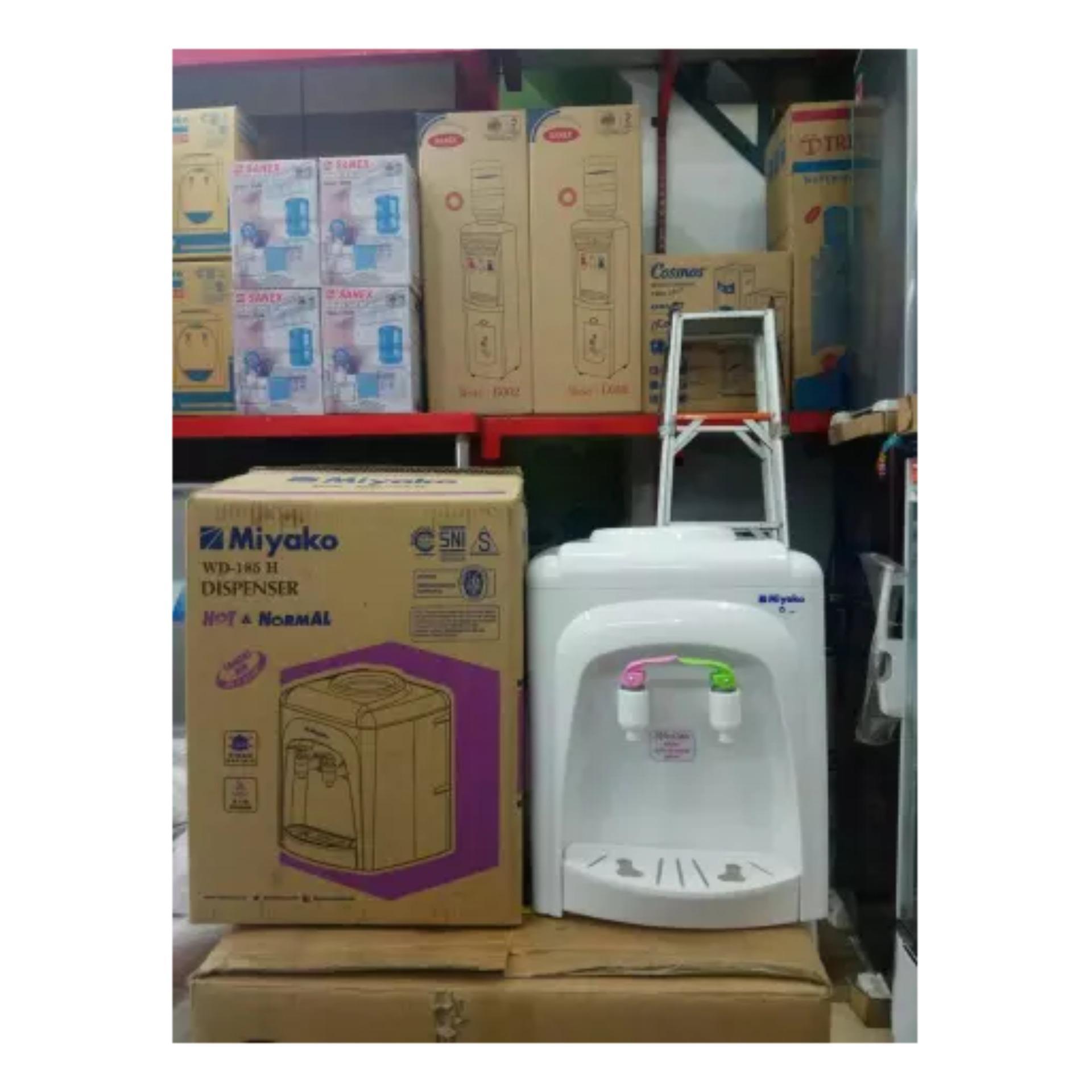 Miyako Dispenser Air Wd 190h Hot Normal Garansi Resmi Putih Cosmos Meja Cwd1170 185