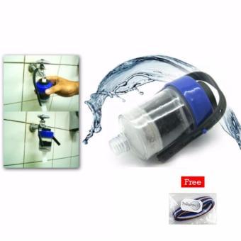 HEMAT Nikita Water Filter – Penyaring Air Efisien Saringan Kran 1 Pcs + Free 1 Pcs Polkadope Ikat Rambut TERLARIS