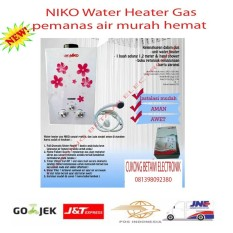 Niko Gas Water Heater pemanas Air NK 6L - WHITE -Promo