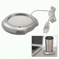 Pamanas kopi USB Warna Silver/Coffe Tea Cup Warmer Heater