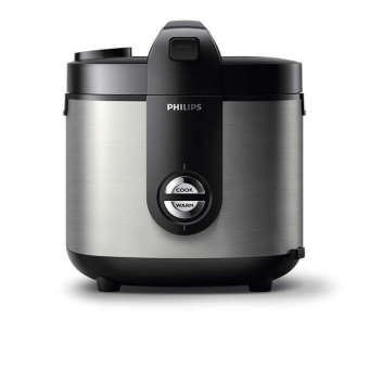 Philips Rice Cooker 2 Liter HD-3128 Stainless - Hitam