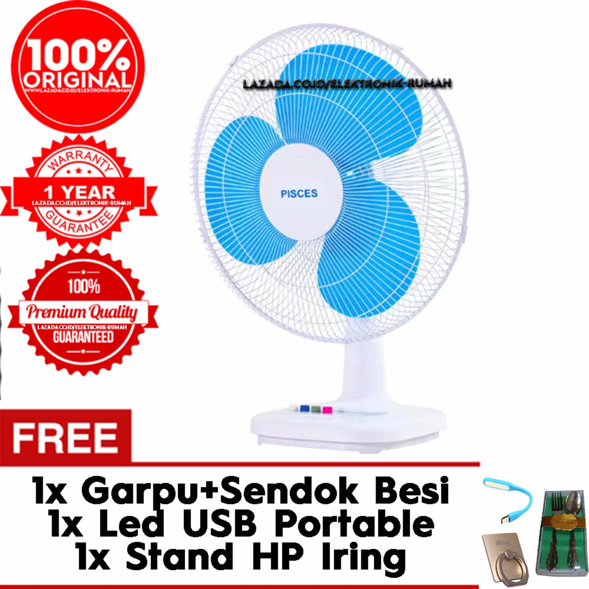 Hot Deals Pisces Kipas Angin Meja 16 Inch Desk Fan Nt1601df Usb Mini Portable Besi Kokoh Gratis Iringstand Sendok