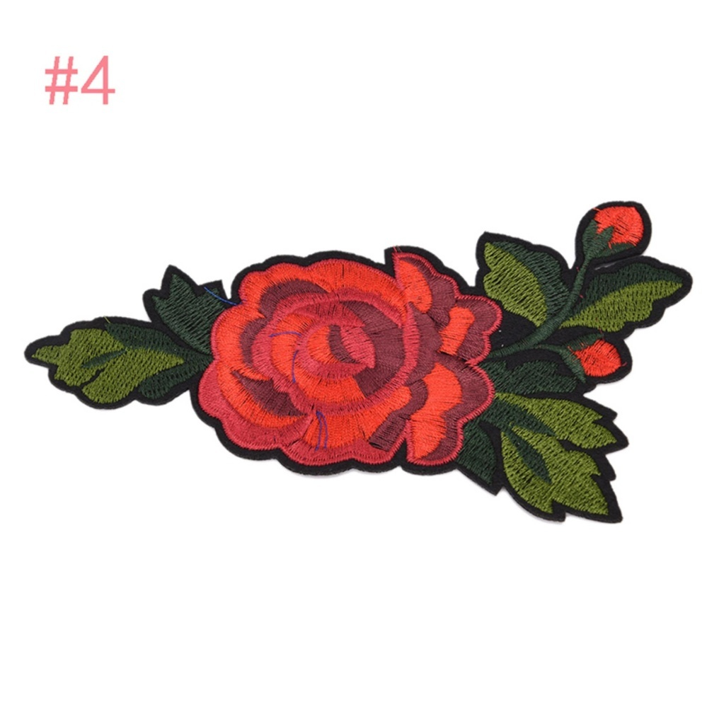 ... Rose Embroidered Sewing On Patch Flower Stickers For Clothes Applique 4 10x17 5cm