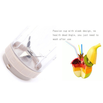 Shake n Take Blender Buah Portable Juicer Mini 400ML - White - 4