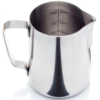 Stainless Steel Milk Frothing Pitcher Cafe Espresso Machines, Milk Frothers & Latte Art 300ml -