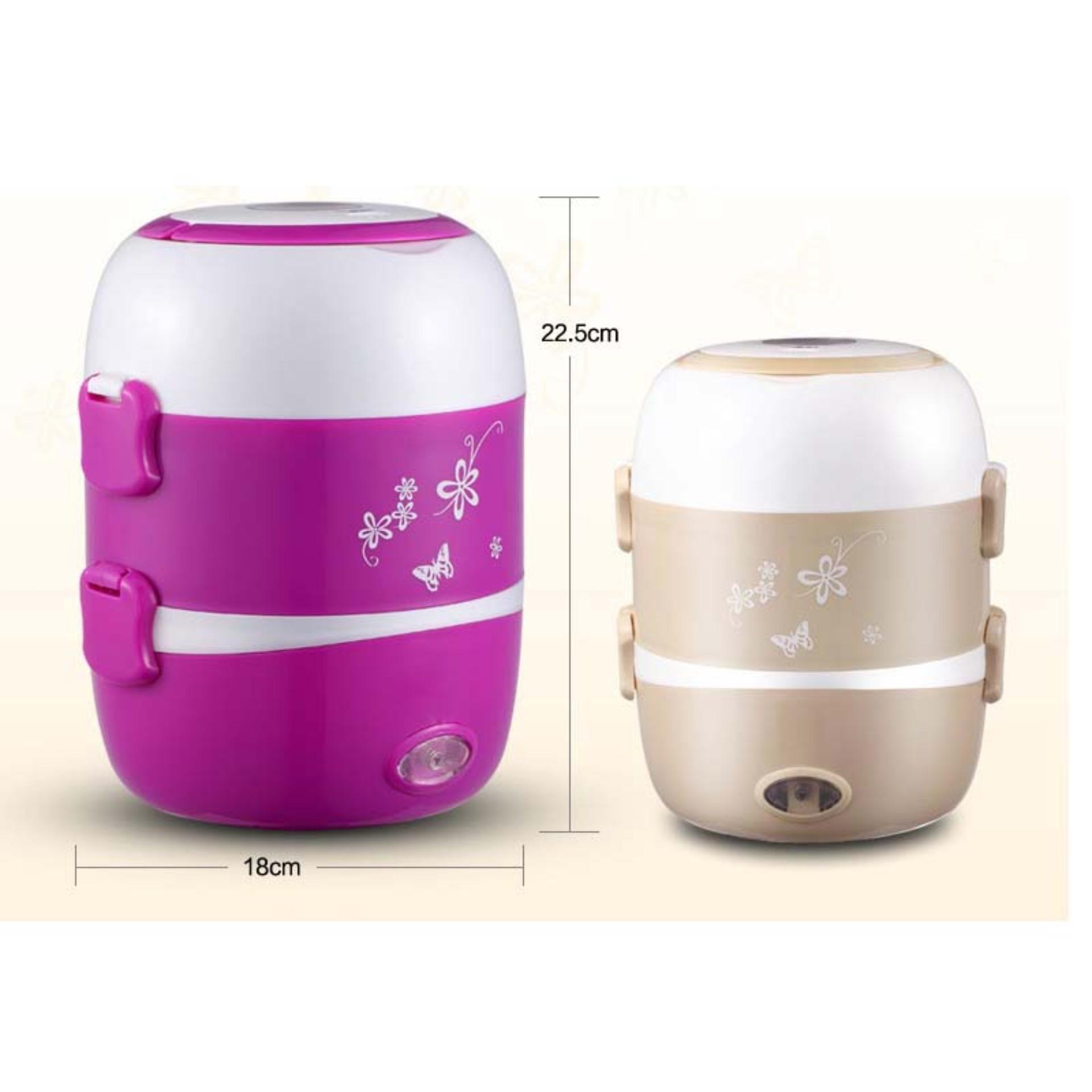 ... StarHome Rice Cooker Mini 3 Susun kapasitas 2 L - Penanak Nasi Mini - Egg Boiler ...