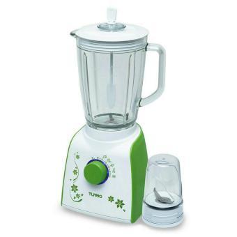 turbo blender gelas plastik + drymill ehm 8099/1 – hijau