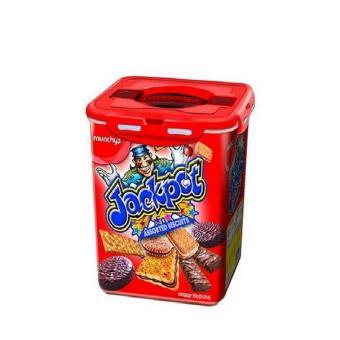 Biskuit Lebaran Best Seller- Biskuit Jackpot Import MalaysiaKemasan Plastik REUSABLE / Biskuit Kemasan Sachet Munchy's LezatSehat & Bergizi Didalam