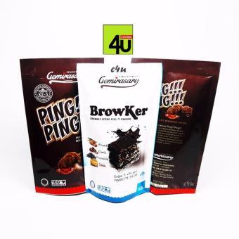 Gambar Gemirasary Snack Brownies Browker dan Ping Ping 4 bks