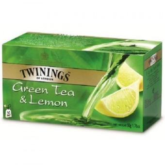 Harga Twinings Green Tea & Lemon 50g