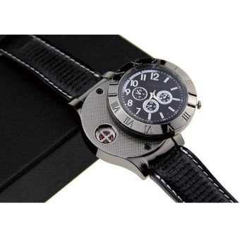 Creative Watches USB Powered with Lighter / Jam Tangan Mancis - Black