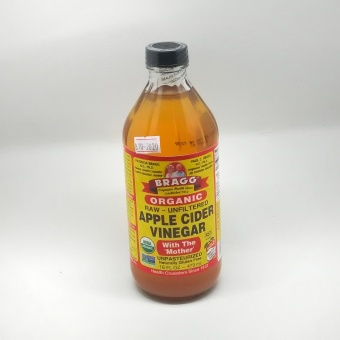 Harga Bragg Apple Cider Vinegar ACV Cuka Apel 473 Ml, Raw Organic with the Mother