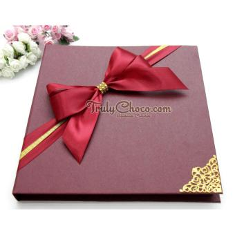 Trulychoco coklat love editions -I REALLY LOVE YOU HONEY- Tutup Hardcover Merah - 2