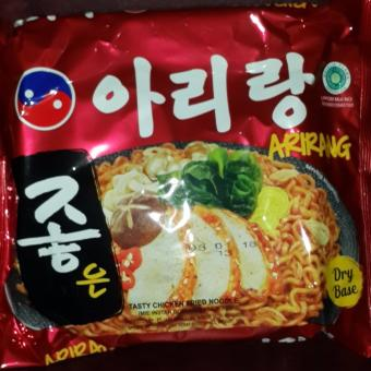 MIE ARIRANG , Korean tasty chicken fried noodle (mie goreng rasa ayam)