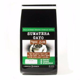 Sentra Kopi - Sumatera Gayo House Blend - BIJI 200 Gram - Arabica& Robusta Blend Coffee