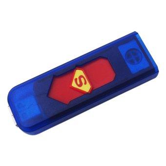 Tigaduasatu USB Korek Charge Superman - USB Electric Lighter -Multicolor