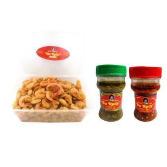 Udang Crispy & Sambal Bu Rudy Khas Surabaya - Udang Besar (1) +Sambal Bajak + Ijo