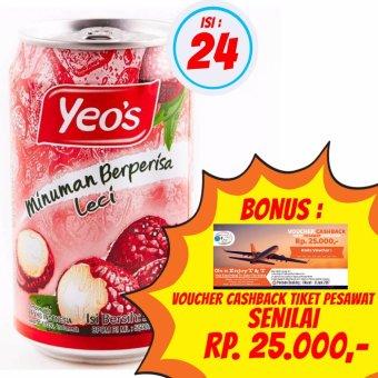 harga Yeo's - Minuman Lecy / Leci 300ml | 1 Karton isi 24 @ 300ml + Bonus Voucher Cashback Tiket Pesawat Senilai Rp. 25.000,- Lazada.co.id