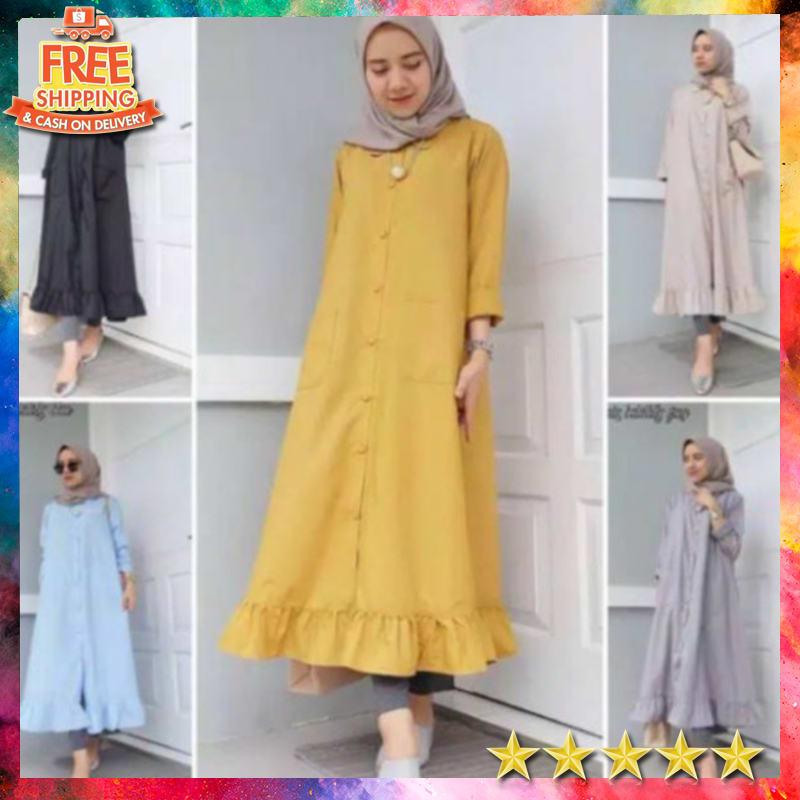 Velove Long Tunik Dress Wanita Terbaru 2020 Dzuvia Tunik Tunik Terbaru Tunik Muslim Baju Tunik Baju Muslim Baju Wanita Terbaru Pakaian Wanita Dress Wanita Dress Wanita Pendek Dress
