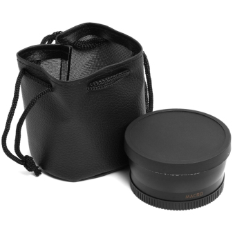 0.45 x sudut lebar lensa 58 mm dengan makro untuk Canon EOS 650D50D 40D 400D 450D LF37 - Internasional - 2