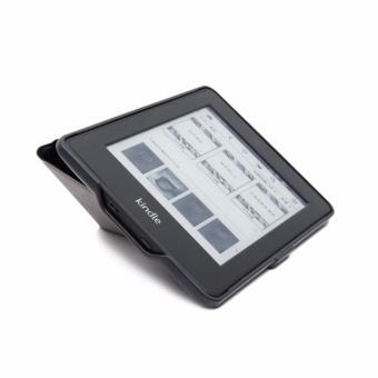 Lenuo ultra tipis Imbo stan kasus penutup PU kulit kantong untuk Amazon Kindle .