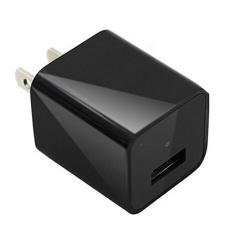 1080P USB Spy Camera AC Adapter Wall Charger Camcorder DV Surveillance(Black)-16GB - intl