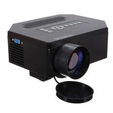 1200 lumen HD 1080P rumah bioskop 3D HDMI USB LCD Proyektor Mini Permainan video memimpin Hitam