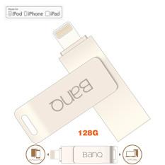 128 GB 128 GB 128 GB BanQ OTG USB Flash Drive Pen Drive Ekspansi untuk IPhone 5/5C/ 5 S/6/6 Plus/6 S/6 S Plus/SE/7/7 Plus/Semua IPad/iPod/MAC/IOS Apple (Silver)