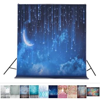 1.5 * 2.1m/5 * 6.9ft Photography Backdrop Background Digital Printed Star Moon Night Pattern for Kid Children Baby Newborn Portrait Studio Photography - intl