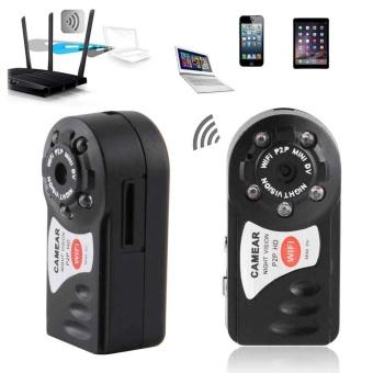 Jual 1x Mini Ip Camera Wifi Micro Sd Cctv Security Camera Wirelesswebcam Audio Hd - Intl Murah