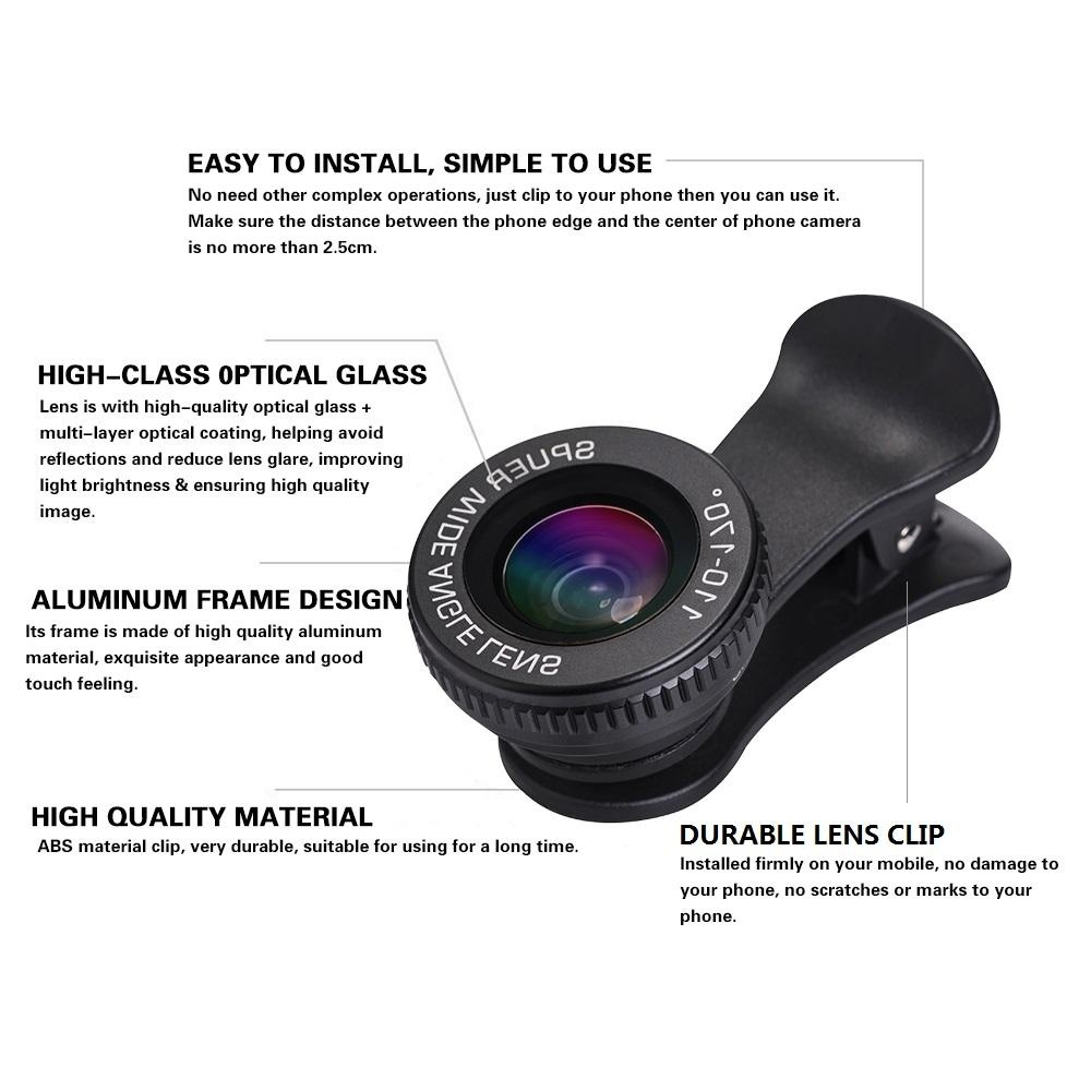 Belanja Terbaik 2 In 1 Hd 110 170 Super Wide Angle Lens 15x Lensa Superwide 04x 235 Degree Universal With Clip Micro