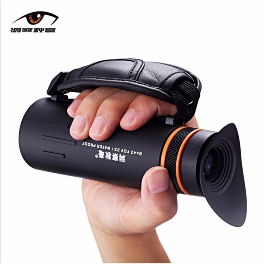 2017 New 8x42 HD Night Vision Handheld Monocular Outdoor CampingTravel Clear Zoom Optical Telescope - intl
