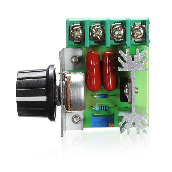 220 V 2000 Watt Tegangan Pengendali Kecepatan Scr Pengatur (Hitam) .